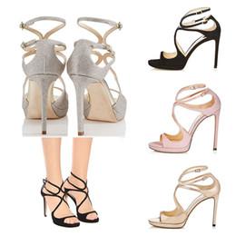Taille de fille talon haut blanc en Ligne-2019 Femmes Designer Sandales Eté So Kate Styles Mode Luxe Fille talons hauts 10CM 12CM LANCE noir rose blanc argent En cuir taille 35-42