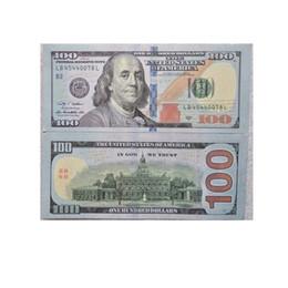 Dollars en papier en Ligne-Prop Copy Pretend Money Fake 100 Dollars Papier Drôle Jouets Studio Photo Accessoires 2-Side Imprimé pour Film 1 Set = 100pcs