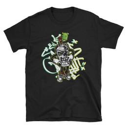 Граффити искусство Майка спрей краска графический мультфильм череп монстр тройник короткие SleeveMen женщины мужская мода футболка Бесплатная доставка cheap spray paint graffiti от Поставщики граффити с распылительной краской