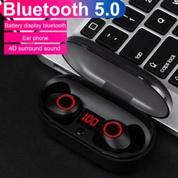 mains libres pour iphone Promotion J29 Bluetooth 5.0 TWS Batterie Affichage Mini Écouteurs Sans Fil Écouteurs Jumeaux Écouteurs Avec Étui à piles Mains Libres