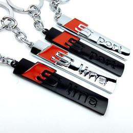 цинковая линия Скидка S line Металлический Брелок Черный Серебристый Audi S порт Металлический Цинковый Сплав Брелки Подарочный сувенир OPP Bag