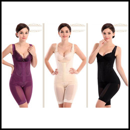2020 cincher de cintura negra GOTA del M-6XL inconsútil de las mujeres de la talladora del cuerpo completo de la cintura de Underbust Cincher Traje Control firme la panza Beige Negro púrpura envío de la gota rebajas cincher de cintura negra