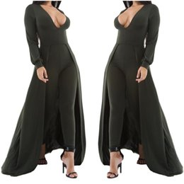 b0e9f233f60 Adogirl Women Sexy V Neck Long Skinny Jumpsuit Autumn Winter White Green  With Cloak Full Sleeve Club Playsuits Plus Size Rompers
