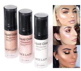 Creme gesichts-kit online-Gesicht Highlighter Creme Flüssig Illuminator Makeup Shimmer Glow Kit Gesicht Erhellen Glanz Marke Kosmetik Make Up