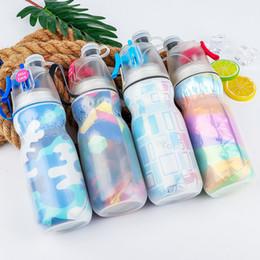 470 ml Portátil Névoa Spray Garrafa de Água crianças Esportes de Verão de Refrigeração Ao Ar Livre de Viagem de Fitness Caminhadas acampamento Ciclismo copo de spray de plástico FFA2061 cheap plastic summer cups de Fornecedores de copos plásticos de verão