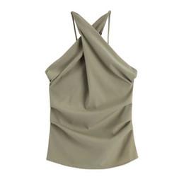 Collar sin mangas, chaqueta para el verano, con sexy espalda descubierta y delgado chaleco trenzado tridimensional modelo nuevo 2019 desde fabricantes