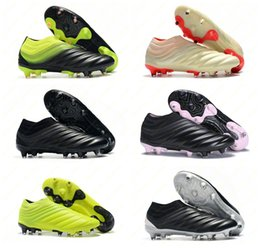 Balones de tamaño online-Zapatillas de fútbol para hombre Copa 19 caliente Champagne solar rojo y rojo Botas de fútbol Scarpe Calcio Cleats 19+ 19.1 FG SOCKFIT AG 19 + x 19 Tamaño 39-45