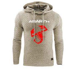 Hoodies Männer für Abarth Auto Logo Print Sweatshirt Frühlings Herbst Männer Hoodies Sports Hip Hop harajuku beiläufigen Hoody Trainingsanzug