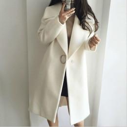 Moda para mujer Invierno Otoño Lana Gabardina Color sólido Chaqueta gruesa Abrigo Abrigos largos SH190911 desde fabricantes