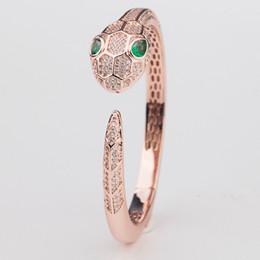 braceletes de prata da serpente dos homens Desconto Pulseiras De Luxo Designer de Moda Big Snake Head Pulseiras Casuais Pulseira de Casamento Das Mulheres Dos Homens Rose Pulseiras Casal Pulseiras de Prata