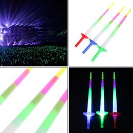 2019 laser stick Alta Calidad Nuevo Arco Iris Espada Láser Extendible Light Up Juguetes Intermitentes Varitas Led Sticks Party dc294 laser stick baratos