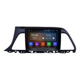 Hyundai bluetooth car dvd online-9 pulgadas de pantalla táctil HD Android 9.0 GPS Navi Car Stereo para 2015 2016 2017 Hyundai sonata con Bluetooth Music support car dvd Cámara trasera