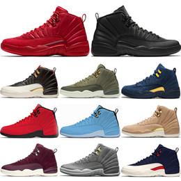 info for bb42b b0467 Designer 12 12s Männer Basketball Schuhe CP3 Klasse von 2003 Michigan Bulls  Red Universität Blau College Navy Top Trainer Sport Turnschuhe Größe 41-47