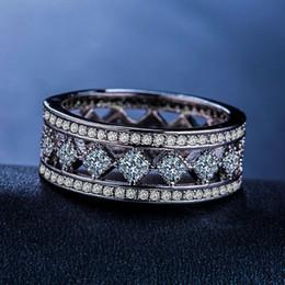 silberner ring kleine steine Rabatt Luxus Weiblicher Small Square-Stein-Ring Mode-Silber-Farbe CZ Wedding Band Ringe Versprechen Liebe Verlobungsringe für Frauen