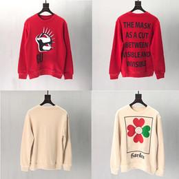 suéter de ganchillo suelto verano Rebajas HOT sudaderas de manga larga camisetas de las mujeres de los hombres en blanco y negro sudaderas con capucha de ropa de lujo del suéter de la moda unisex Marca Top resorte del otoño S-XL