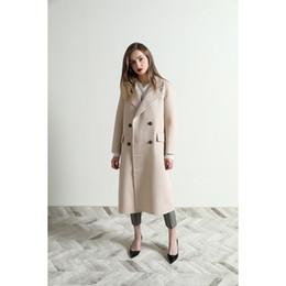 2019 diseños de lana superior Top diseño! 2019 nuevo invierno de la llegada señora de la oficina capa de abrigo de lana mujeres envío libre HMR19925AUG3 rebajas diseños de lana superior