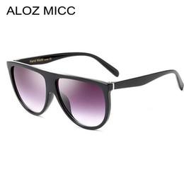 Occhiali da sole sottili online-ALOZ MICC 2019 occhiali da sole di lusso Brand designer Donna Occhiali da sole Vintage Acetato Ombra sottile Occhiali Shadow Men A013