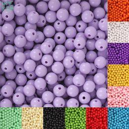 8mm 100 pz Plastica Perle Acriliche Liscio Rotondo Branelli Allentati Del Distanziatore Artigianato Decorazione per Braccialetti FAI DA TE Collane Monili Che Fanno da artigianato di perle di plastica fornitori