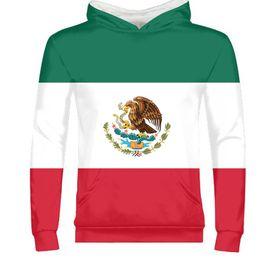 bandiere spagnole Sconti GLI STATI UNITI DEL MESSICO maschio logo giovanile gratis nome personalizzato numero mex pullover nazione bandiera mx spagnolo messicano stampa foto abbigliamento