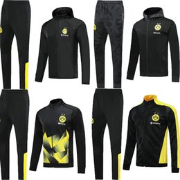 cor da jaqueta Desconto 2019 2020 Borussia dortmund Soccer training suit kits Soccer jersey 19 20 Survetement dott training tracksuit jacket