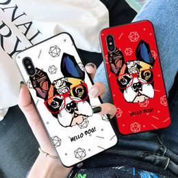 Fundas para iphone bulldogs online-Colorido bulldog francés Crashproof Frosted Funda protectora de silicona para teléfono celular de silicona Fundas protectoras para iPhone X XR XS MAX 6 6S 7 8 PLUS