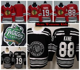 2019 Winter Classic Chicago Blackhawks Kinder 88 Patrick Kane 19 Jonathan Toews Hockey-Trikots Youth Boys Womens Mens Genähte Hockey-Shirts von Fabrikanten