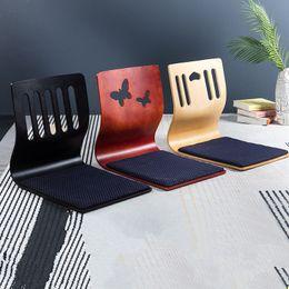 Zimmermöbel online-Floor Seating Zaisu Stuhl Asian Design Wohnzimmer Möbel japanischen Stil Tatami Legless Meditation Stuhlkissen EEA591