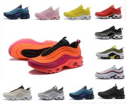 competitive price 5951d 26161 A buon mercato all ingrosso 2018 nuove 97 scarpe casual più scarpe da uomo  d aria mista TN scarpe classiche scarpe da donna selvaggia arancione nero  bianco ...