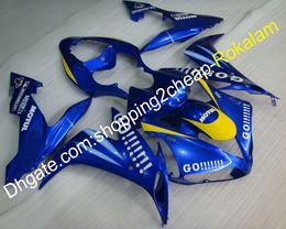 YZF1000 04 05 06 Kit carene per Yamaha YZF R1 2004 2005 2006 Racing Bike 46 Go !!!! Set carenatura blu (stampaggio ad iniezione) supplier yamaha r1 fairings 46 da corone yamaha r1 46 fornitori
