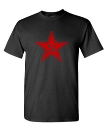 russian star Promo Codes - RUSSIAN COMMUNIST STAR - retro 80's cccp commie - Cotton Unisex T-Shirt Funny 100% Cotton T Shirt Jacket Croatia Leather Tshirt