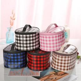 Grade maquiagem cosméticos Zipper Handbag Moda Viagem Poratble Wash Bolsas Bolsa Multi-Function sacos de armazenamento 5styles RRA2056 de