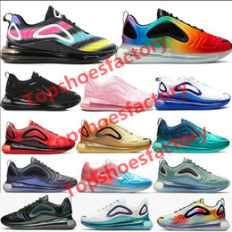 Nuovi scarpe di stile per i mens online-Nike Air Max 720 diseñador calzado eclipse total de sol Northern Lights Day Mens Womens running Sneakers 36-45 lujo Luna throwback futuro
