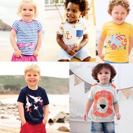 11e50e9bb81460 Embroidery kids designer clothes Girls t-shirts Cotton Striped Children Tee  Cartton Elephant Cat Plane Flower Kids Designer Clothes Girls
