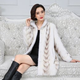 2021 porzellan pelze Fur quality Real Mink Superior Coat 2020 Winter Women China Full Sleeve Thick Warm Long Genuine Natural Fur Coats Plus size 3xl rabatt porzellan pelze