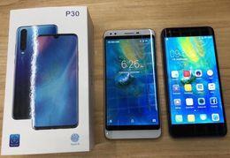 Tv celular teléfono pulgadas online-Huawei p30 X15J teléfono celular 5.5 pulgadas Android 6.0 pulgadas MTK6580A Teléfonos con doble núcleo teléfonos inteligentes Sim 512 RAM 4GB ROM muestran 32GB falso 4G LTE DHL
