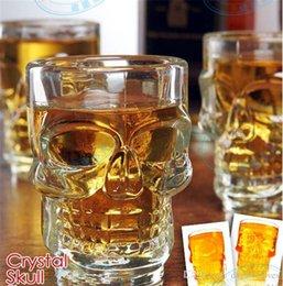 2020 whisky de cabeça de cristal 500ml Caveira de Cristal Chefe Vodka Tiro do vinho do vidro de cerveja Leite Whiskey Glasses copo bebendo Ware Handle para Home Bar Partido criativa Halloween GBN whisky de cabeça de cristal barato