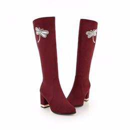 S. Romance Женские сапоги плюс размер 34-43 высокие квадратные каблуки женские насосы офис дамы резиновая мода Женская обувь черный красный SB125 supplier black rubber boots for women от Поставщики черные резиновые сапоги для женщин