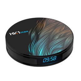HK1 Max Android TV Box 4 GB 32 GB / 64 GB RK3318 Quad Core Android9.0 Inteligente Min PC com Display 2.4G / 5G Wifi TVbox Bluetooth 4 K 3D Media Player supplier android tv box 5g de Fornecedores de caixa de tv android 5g