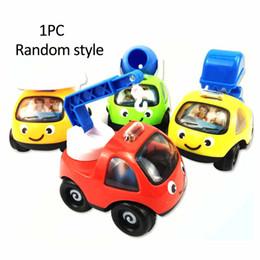 Nuovi camion di giocattoli online-Cartoon Kids Mini Engineering Veicolo Pull Back Car Toy Xmas Gift Trucks Nuovo