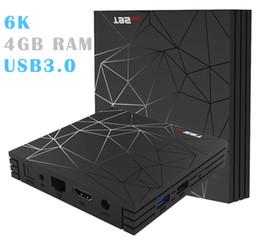 10pcs H6 Quad Core 6K USB3.0 3D Android 8.1 TV Box 4 GB de RAM 32GB / 64GB ROM de