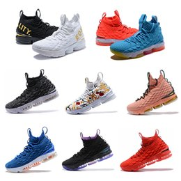 caecf8ae214 2019 newest Ashes Ghost Floral Lebrons 15 Basketball Shoes Lebron  multicolor Sneaker 15s Mens sports Shoes king lbj James US size 7-12