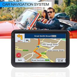 2019 navegação por gps Novo 5-polegadas Touch Screen GPS do carro do sistema RAM256M + ROM8GB FM AV-IN SAT NAV Com Mapa Gratuito de Viagem GPS Locator Rastreador Navegação desconto navegação por gps
