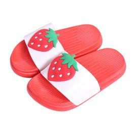 Niños zapatos descalzos online-Niños Niñas Niños Zapatillas Niño Agua Niños Chanclas Descalzo Niño Dibujos animados Fruta Zapatos de playa Natación Verano para bebés