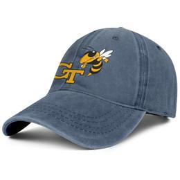 GA Tech желтые куртки футбол логотип молодые люди Спорт джинсовая бейсболка прохладный регулируемый женщины летняя кепка лучший snapback крышка сетки шляпы от