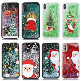 2019 natal iphone santa IPhone aplicável XS Max Mobile Shell iphone 8Plus Natal areia Shell 6S Santa Claus Shoe Capa natal iphone santa barato