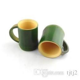Кружка чашки зеленый эко онлайн-Натуральный Бамбук Ручка Чашки Чая Моды Творческий Ручной Чашки Зеленый Экологически Чистые Путешествия Ремесел Плесень Доказательство Деревянная Кружка 111