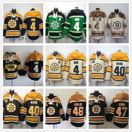 Custom Mens Boston Bruins hoodies 4 Bobby Orr 40 Tuukka Rask 46 David  Krejci 47 Torey Ice Hockey Hoody Sweatshirts Green beige black ff4eb6adf