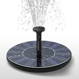 Fontana di acqua alimentata solare online-Solar Power Fountain Garden Fountain Solar Water Pump Solar Water Sprayer Watering Systerm Garden Decoration ZZA456