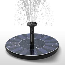 Decorazioni da giardino online-Fontana a energia solare Fontana da giardino Pompa acqua solare Spruzzatore solare acqua Irrigazione Systerm Decorazione del giardino ZZA456