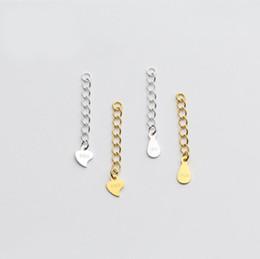 Catena di prolungamento di estensione della collana del braccialetto dei gioielli di modo dell'argento sterlina 3cm 5cm DIY A2664 da
